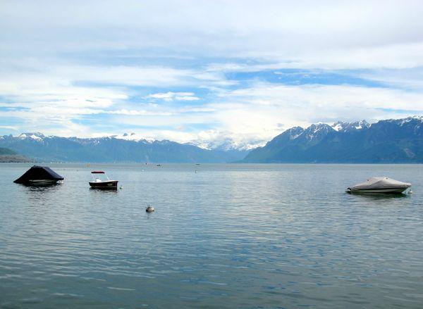 lac leman depuis le chateau d'Ouchy blog chez requia cuisine et confidences