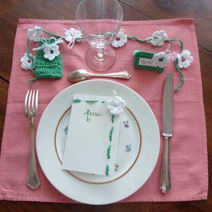 photo carrée décor de table
