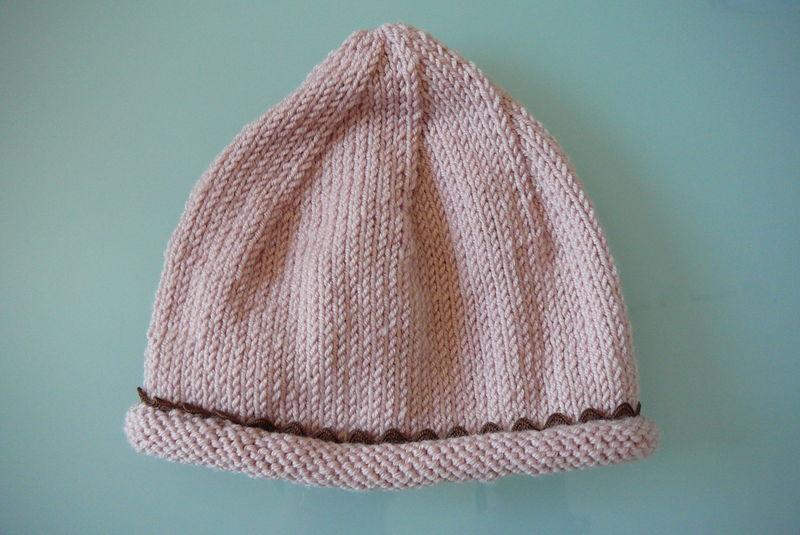 Bonnet à croquet (taille 3 mois)