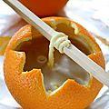 Diy récup' : les bougies et décos de noël à base de peaux d'orange