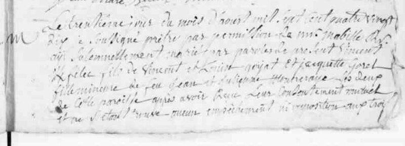 1790 mariage Kerfelec_Gorel à Malestroit_0