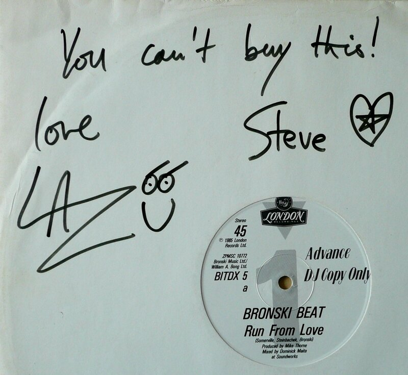 Run From Love 12'' UK adv dj copy signed