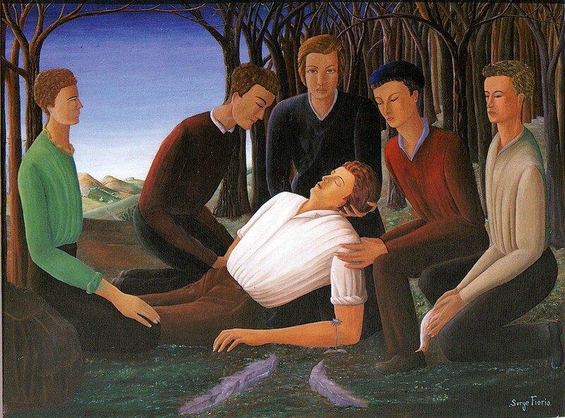 Sculptées ou peintes, quelques autres Mort du Camarade.