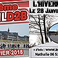 Janvier 2018 : trail d2b 40km de sable… et trail l'hivernale 12km de boue : pourquoi faire simple pour commencer l'année