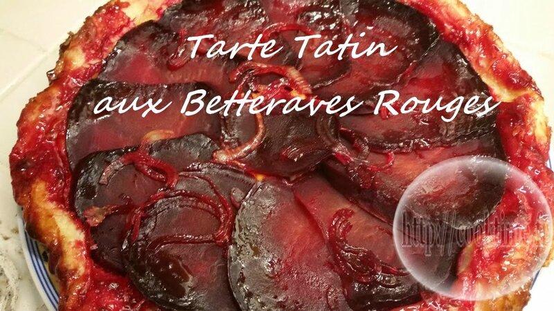 Tarte tatin aux betteraves rouges 3