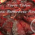 Tarte tatin aux betteraves rouges ( thermomix )