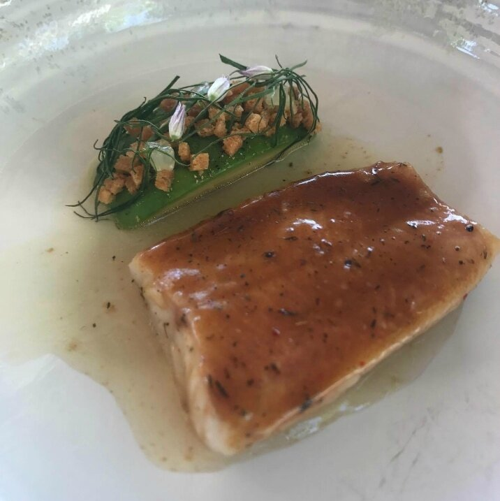 Omble chevalier, avocat, jus d'escargots