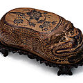 A rare Cizhou 'Tiger' pillow, Jin dynasty (1115-1234)