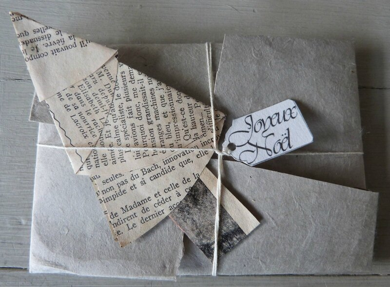 enveloppe origami et sapin (5)