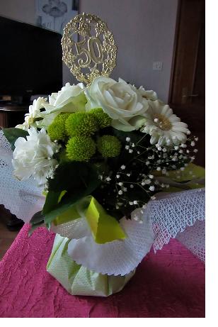 fleurs noces d'or Elsa Alfred