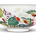 A 'boneless' famille-rose bowl, yongzheng mark and period (1723-1735)