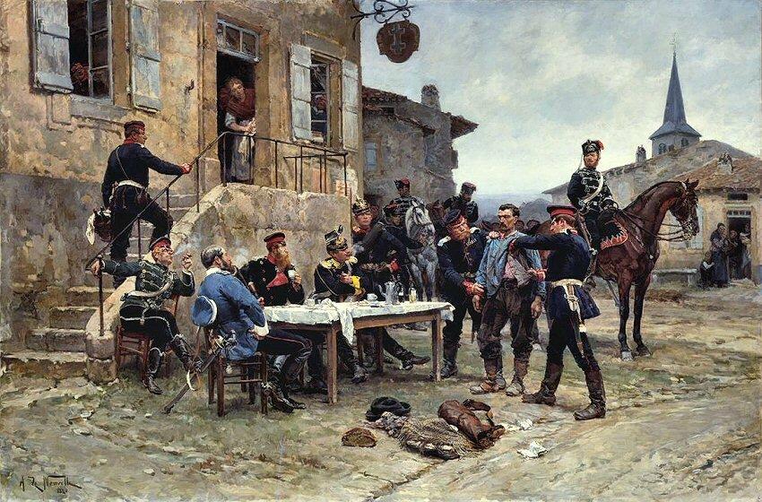 De Neuville, un porteur de depeches (1881)