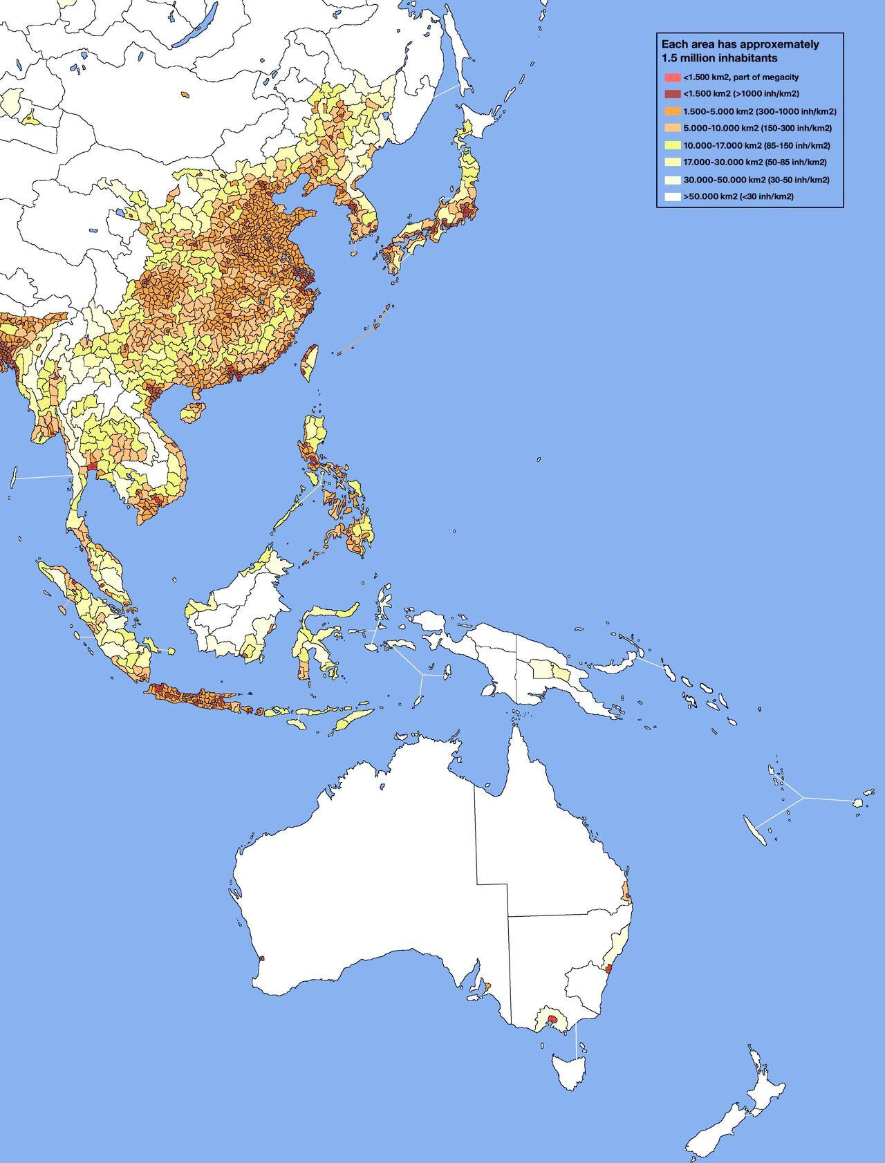 asie population density