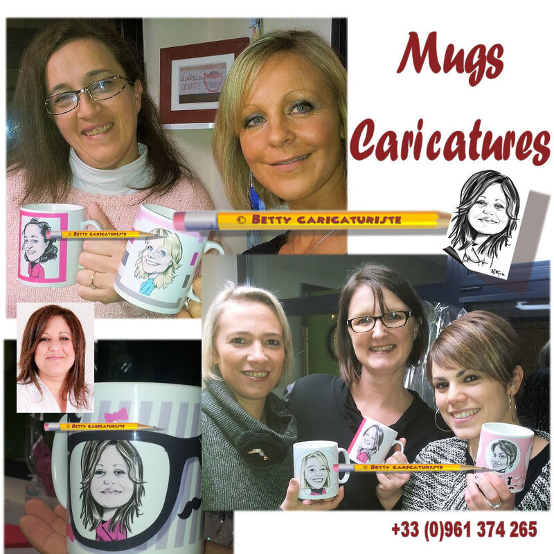 mug tasse the cafe caricature cadeau dessin