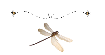 libellule frise abeilles