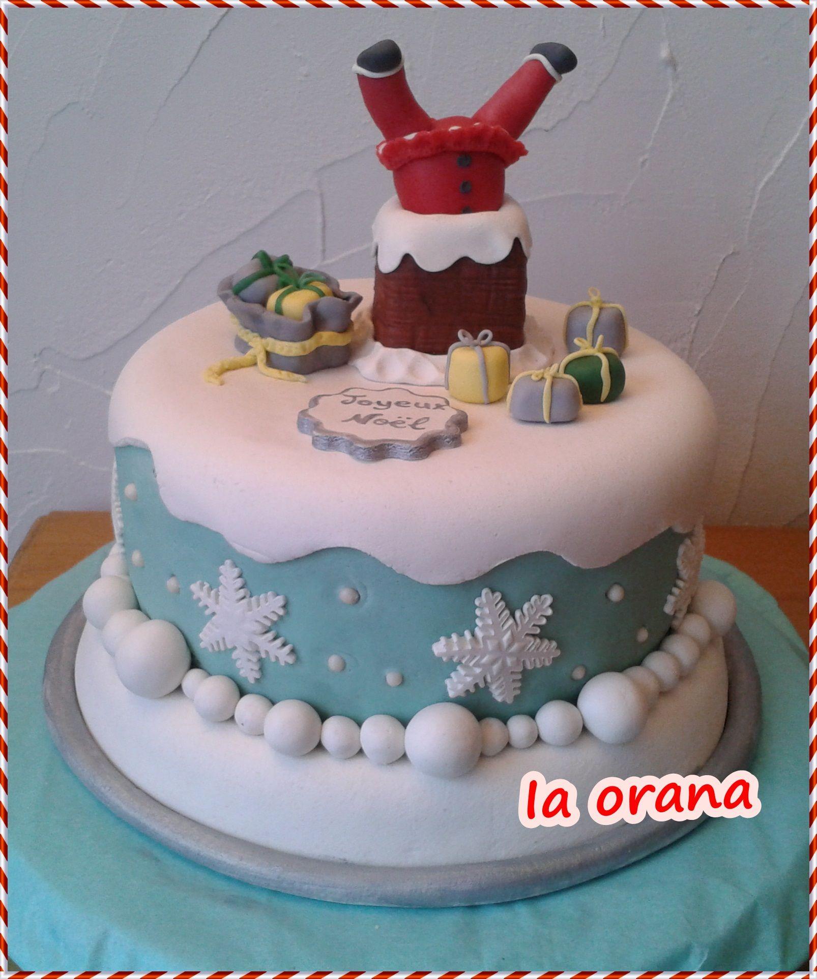 Gâteau Père-Noël dans la cheminée/Santa Claus in chimney cake