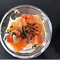 Tiramisu salé aux deux saumons