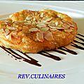 Croustillant d'amandes et gingembre confit,sauce chocolat épicé