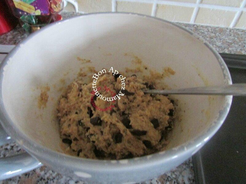 cookies au son d'avoine miel d'acacia et pépites de chocolat 006