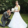 bouquet mariage original tissu blanc vert anis sur mesure personnalisé cereza deco