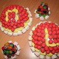 Gâteaux d'anniversaire en bonbons