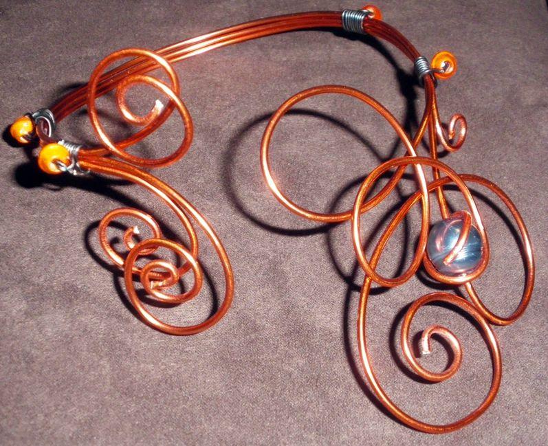parure (20-4) orange-bouton