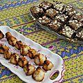 Rochers à la noix de coco et brownies new-yorkais