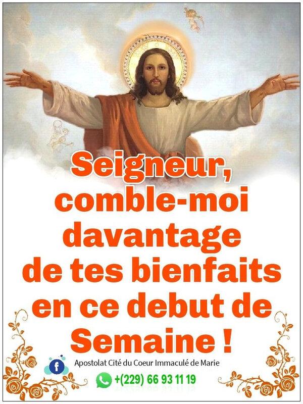 🌹 SAINTE SEMAINE🌹 Que le Seigneur te comble davantage de ses bienfaits en ce début de semaine. #Amen