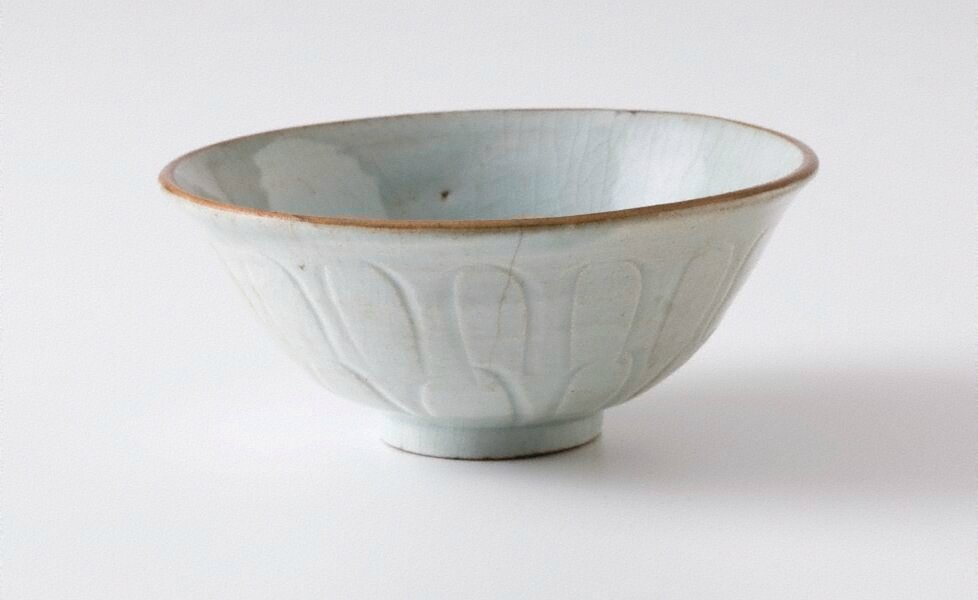 Bowl, Qingbai ware, Yingqing ware, China, Song dynasty (960 - 1279), Jingdezhen ware, Jiangxi Province, stoneware with 'qingbai' (bluish-green) glaze, 6.5 x 15.1 cm. Bequest of the Hon. Sir Colin Davidson 1961. EC3.1961. Art Gallery of New South Wales, Sy