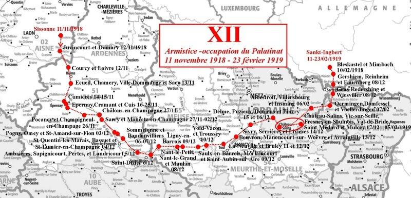 Carto Journal de Marche XII Armistice et Palatinat