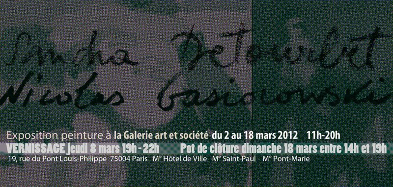 VERSO- - -Galerie art et société mars 2012