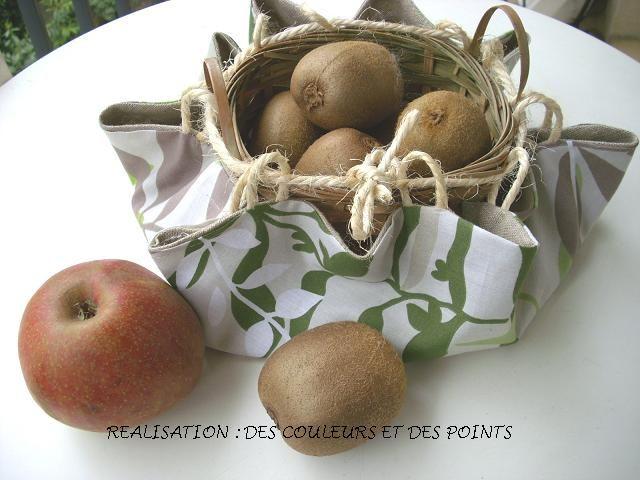 ou des fruits en intégrant un petit panier