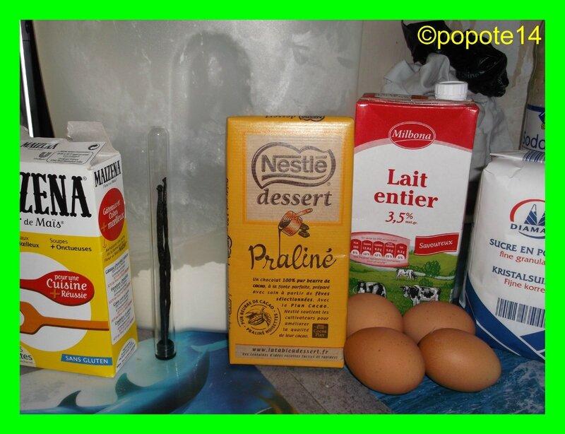 ingrédients flan pralinoise