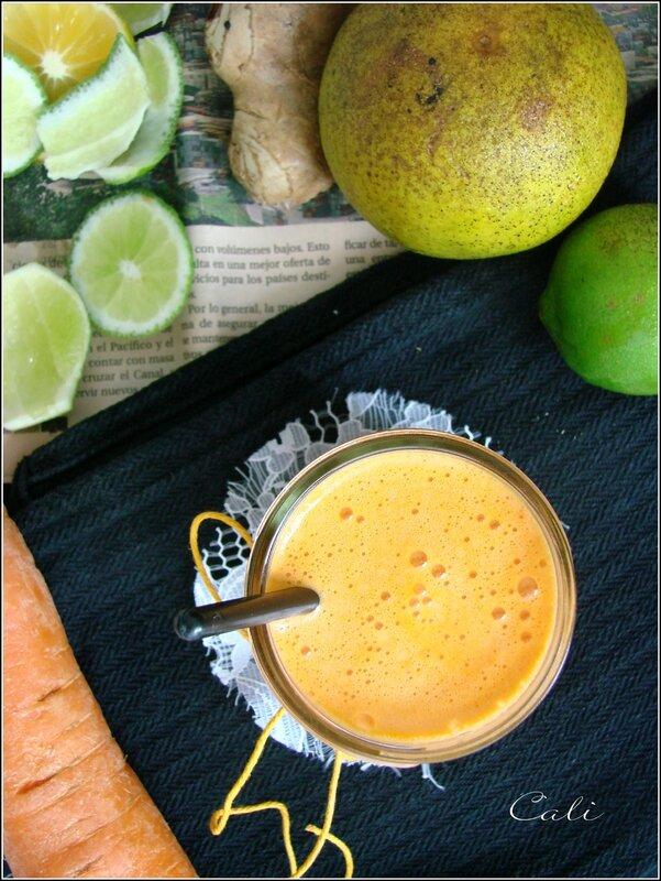 Jus Carotte, Orange, Citron Vert & Gingembre 001