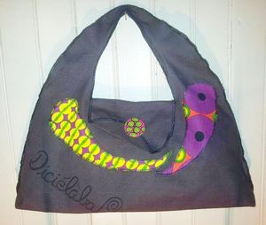 sac gris multi color