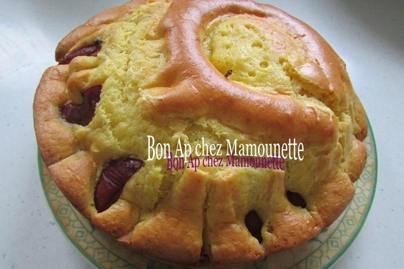gâteau prunes pomme mascarpone 005