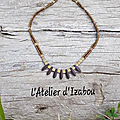 Un joli décolleté bien décoré, ça vous dit ? et pourquoi pas avec ce magnifique collier ne perles miyuki bronze mat