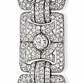 An art deco diamond bracelet, by bulgari