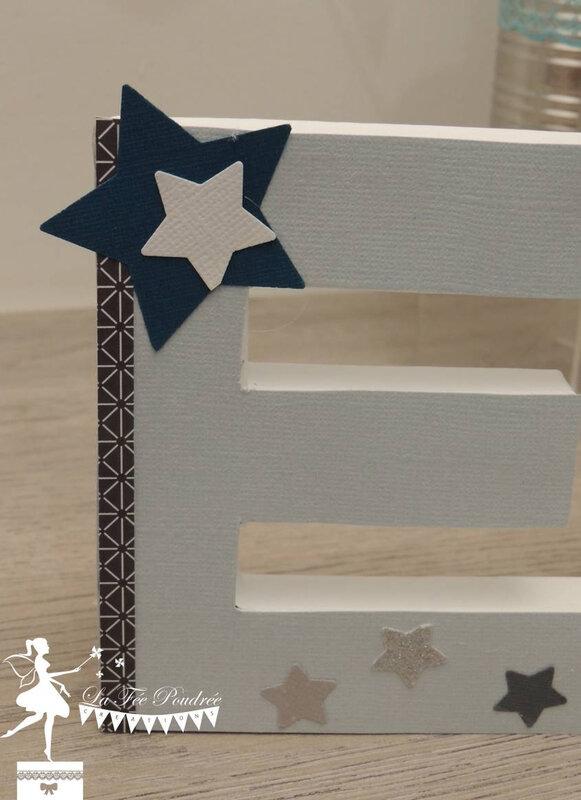 decoration bapteme etoile nuage petrole bleu gris2