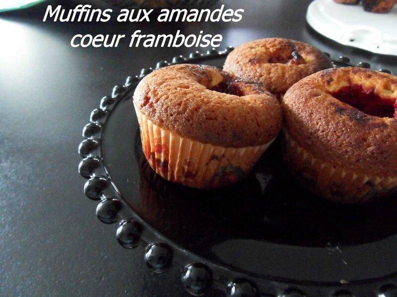 muffins aux amandes coeur framboise
