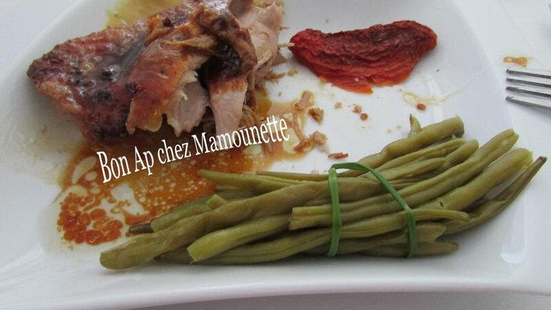 cuisse de dinde aux haricots verts frais et tomates séchées 021-