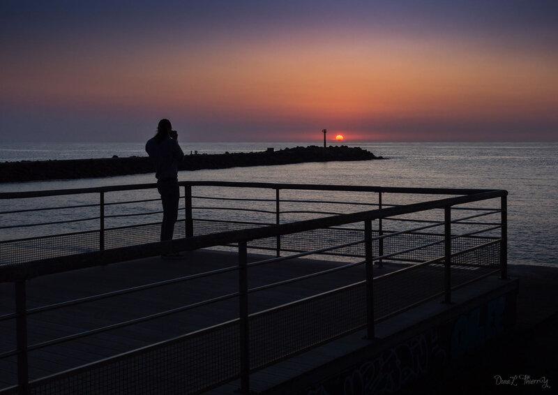 coucher de soleil à Anglet