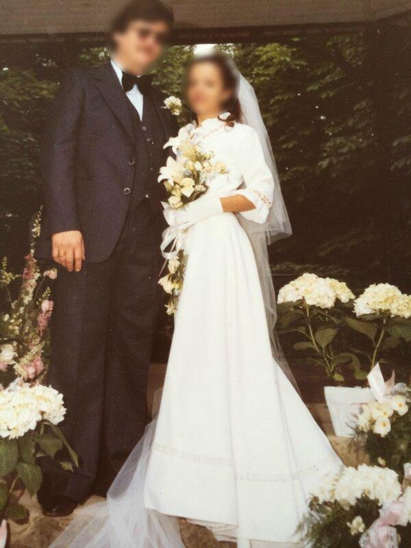 parents mariés flous