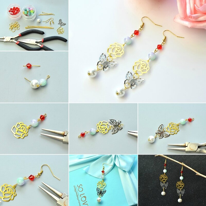 PandaHall-DIY-Craft-on-Vintage-Style-Butterfly-Dangle-Earrings1080-8