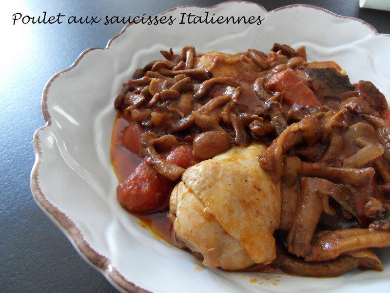 Poulet aux saucisses Italiennes