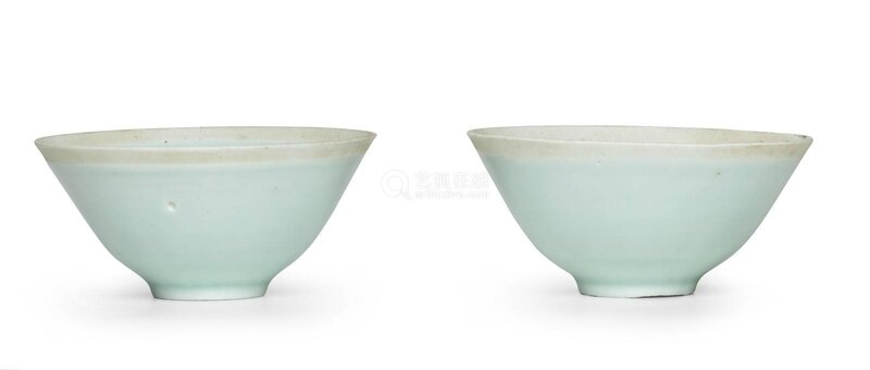 A pair of Qingbai 'Prunus' cups, Song dynasty (960-1127)