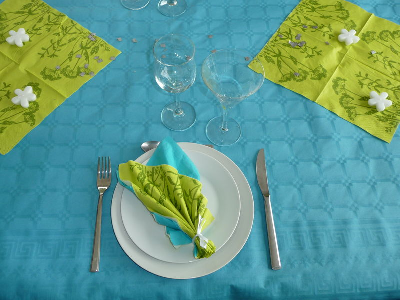 Décoration Vert Anis Et Bleu Turquoise : Vert anis turquoise carton and co