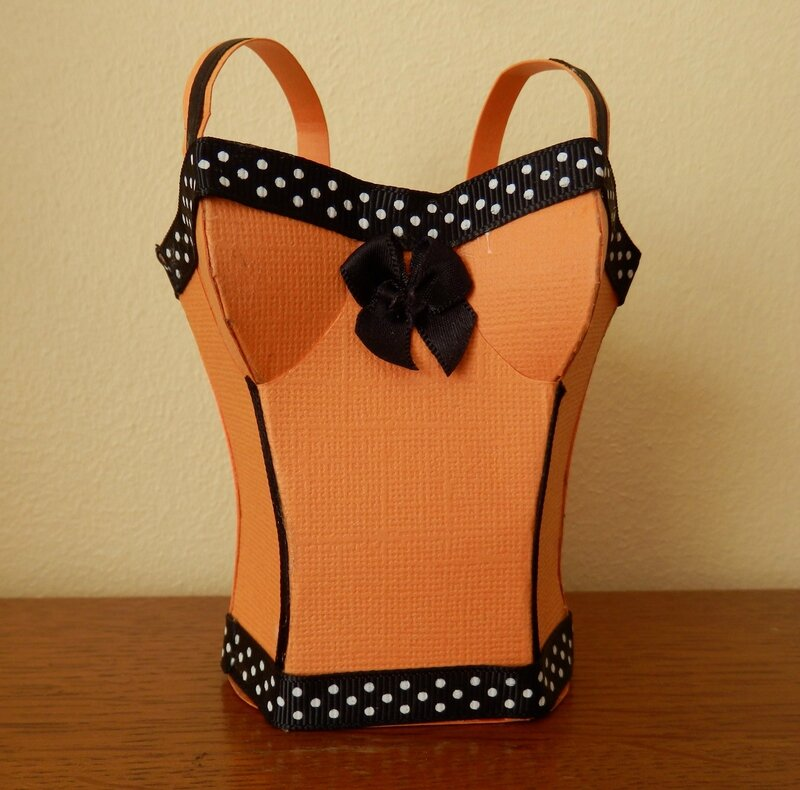 sac bustier orange