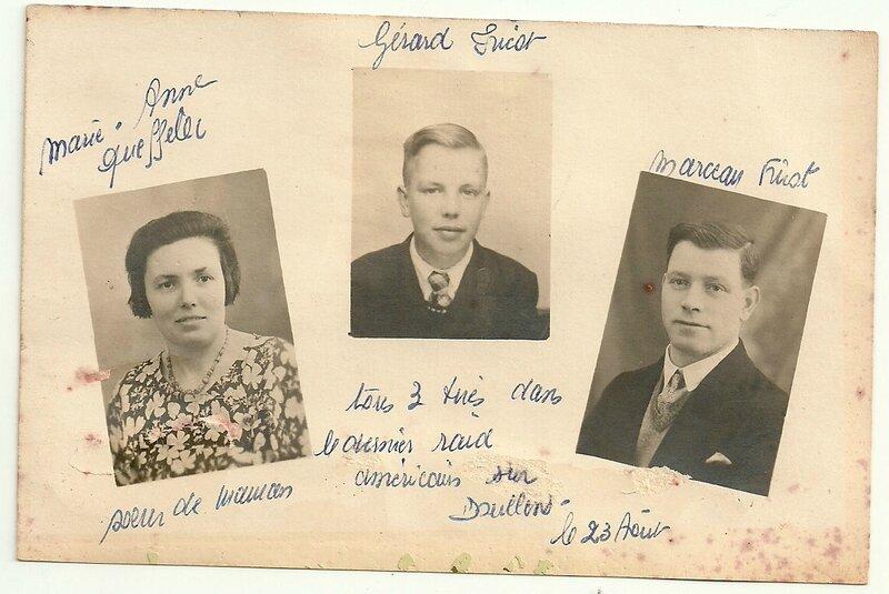 Famille Fricot Queffelec morts pour la France