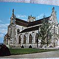 Bourg en Bresse - église de Brou - Façades nord et ouest